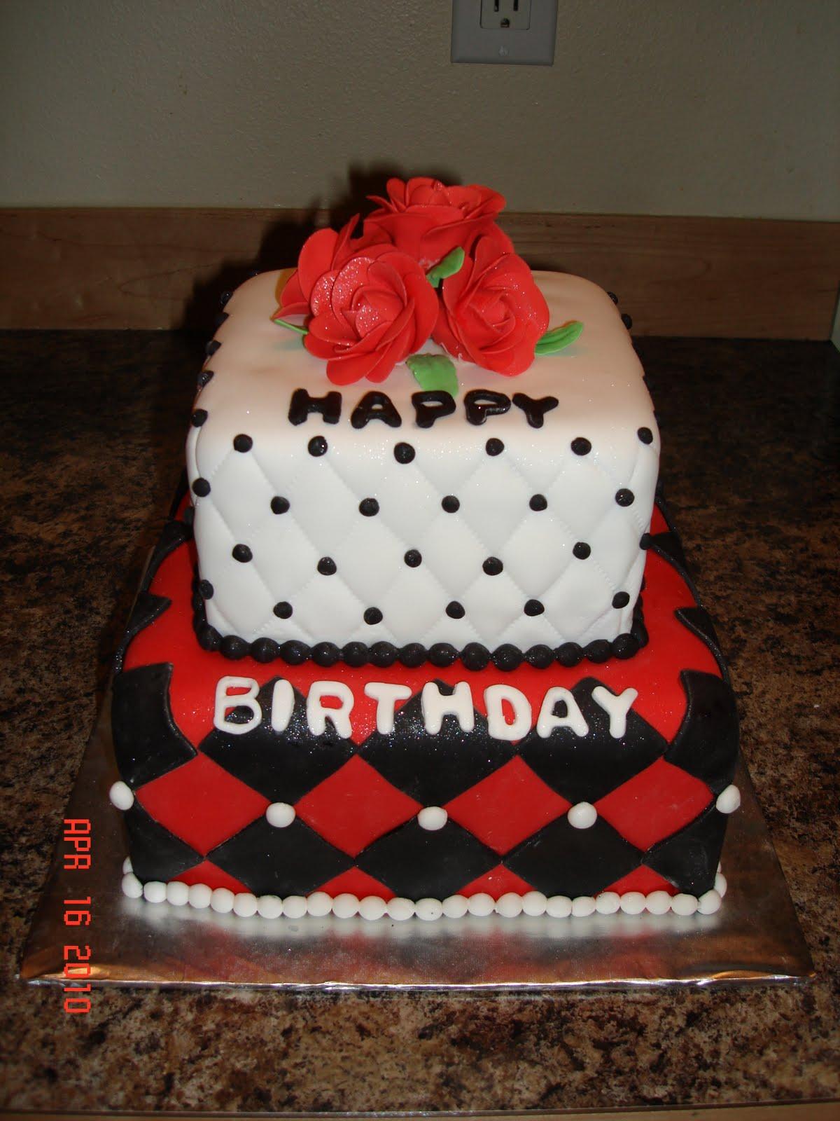Custom Cakes By Denise: Red Roses Happy Birthday