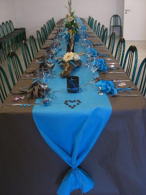 Mon blog mariage d co mariage turquoise et chocolat - Deco table turquoise chocolat ...