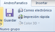 Crear pestañas personalizadas en MS Office 2010