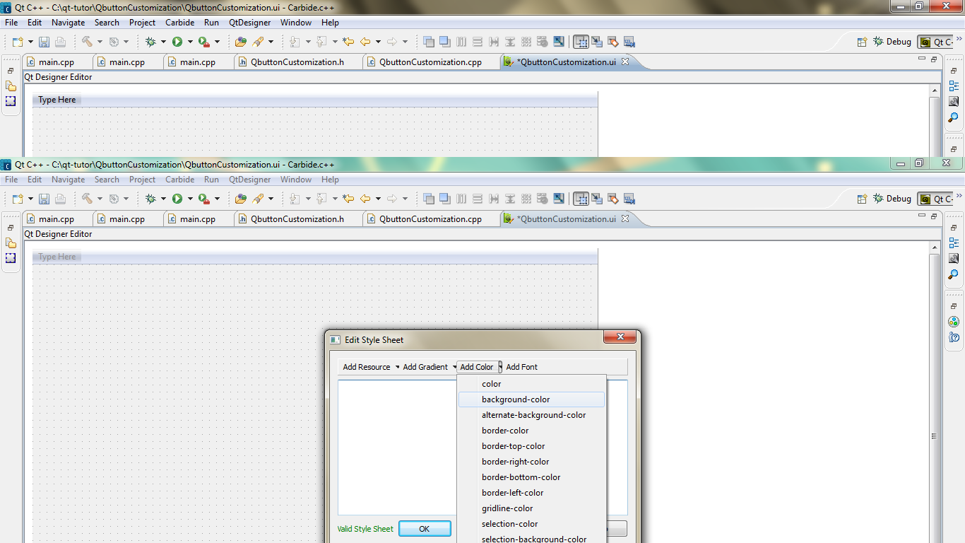 Qt Articles:Qt sample codes,Qt programming: How to add stylesheet