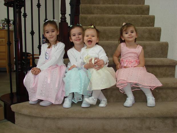 Six Girls' Mom Easter Kids And Seedlings