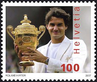 Roger Federer Sello Postal