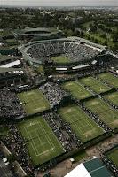 vista aérea de las pistas de wimbledon