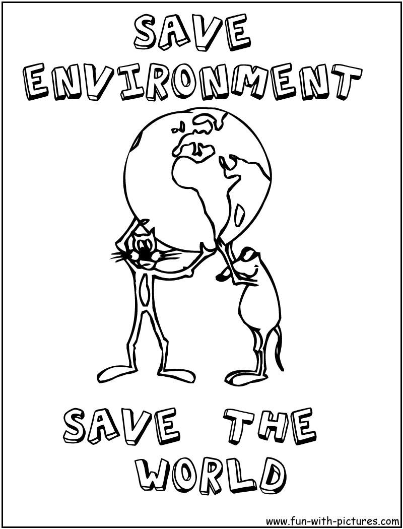 environmental coloring pages | Love Your Earth | Facts About Global Warming: October 2010