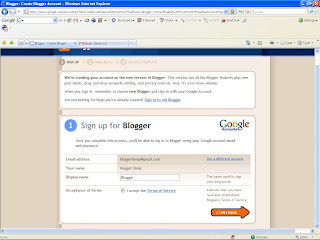 Creating Blog in Blogger
