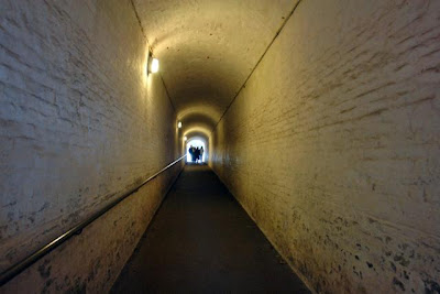 The tunnel used to reach the World War complex inside Dover Castle.jpg