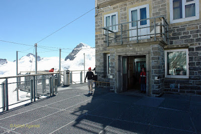 Observatory and metal platform at the observation tower at Jungfrau