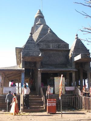 Structure of the stone temple at Chauragarh in Pachmarhi