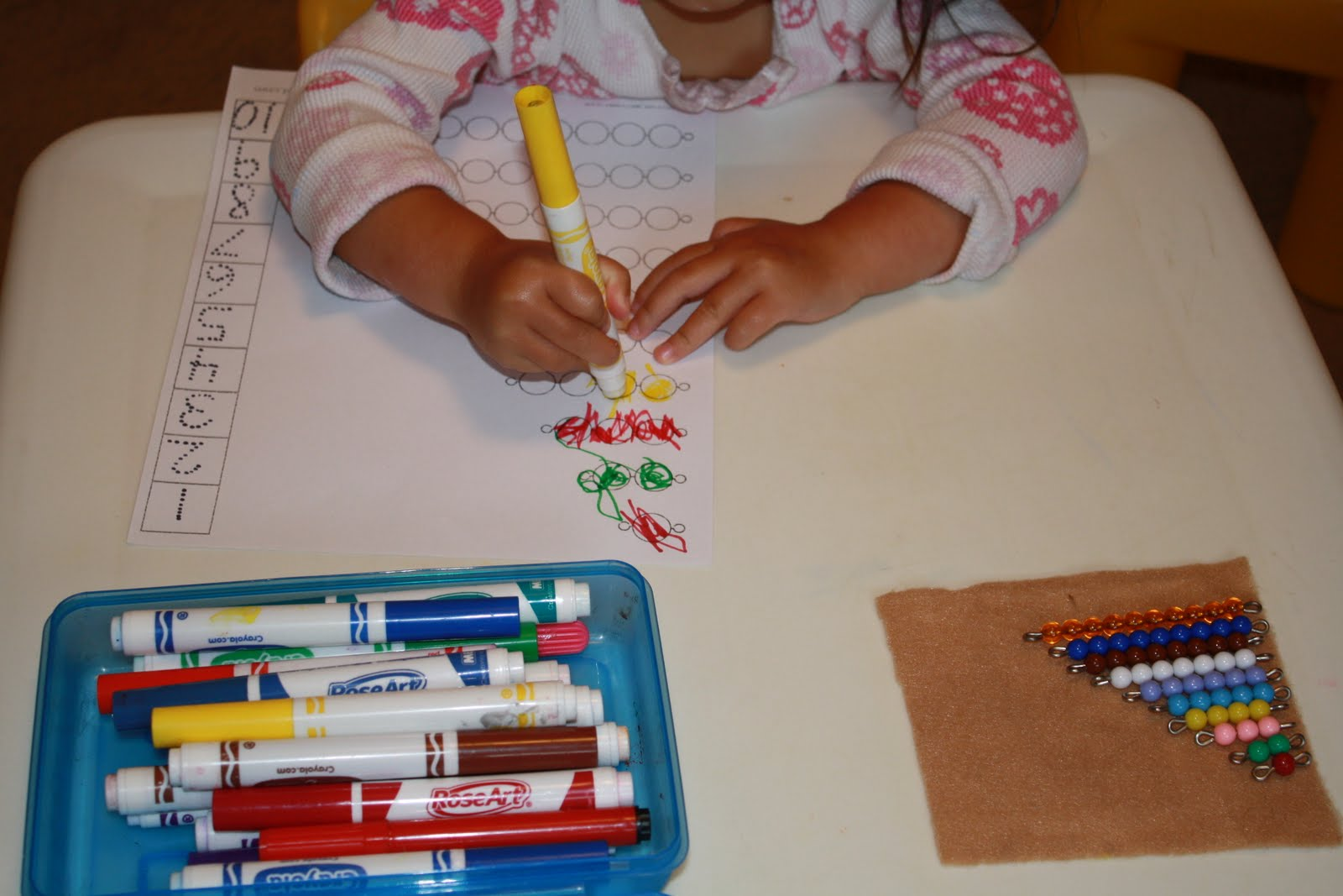 Olives And Pickles Bead Stair Activities