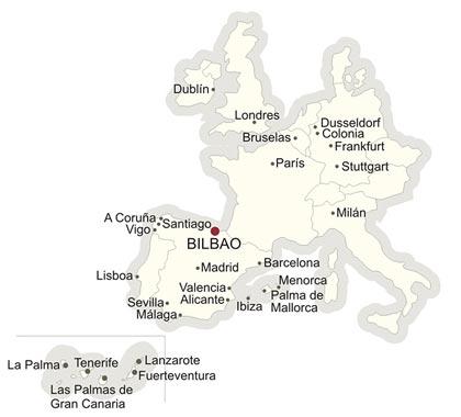 Bilbao en el mapa