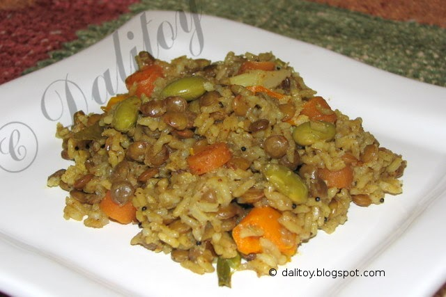 how to cook brown lentils and rice