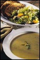 Pumpkin and Nut Loaf, Orange and Avocado Salad and Herbed Garlic Soup
