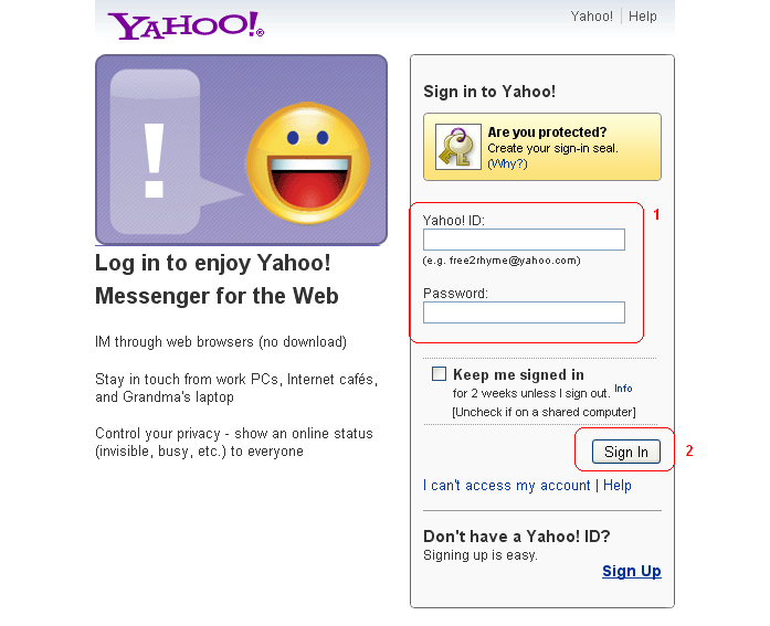 yahoo messenger sign up image search results