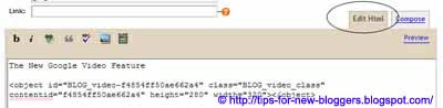 Customize Video Upload in Blogger
