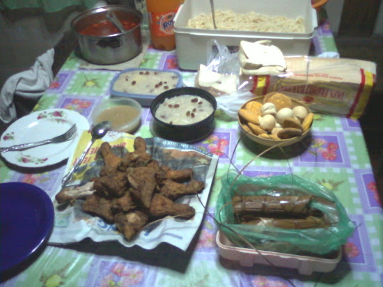 Simple feast for the coming New Year.