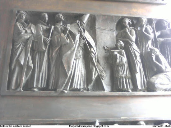 Engravings on the doors of Manila Cathedral