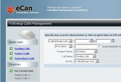 eCan Immigration Software