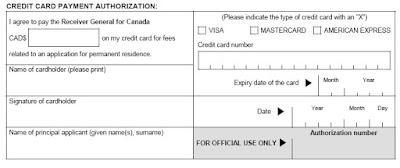 Payment Fee Form (IMM 5620)