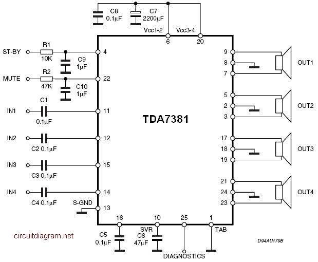 Quad amp wiring diagram wiring diagrams schematic wiring diagram may 2010 quad audio amplifier circuit diagram with tda7831 425w quad amp wiring diagram asfbconference2016 Choice Image