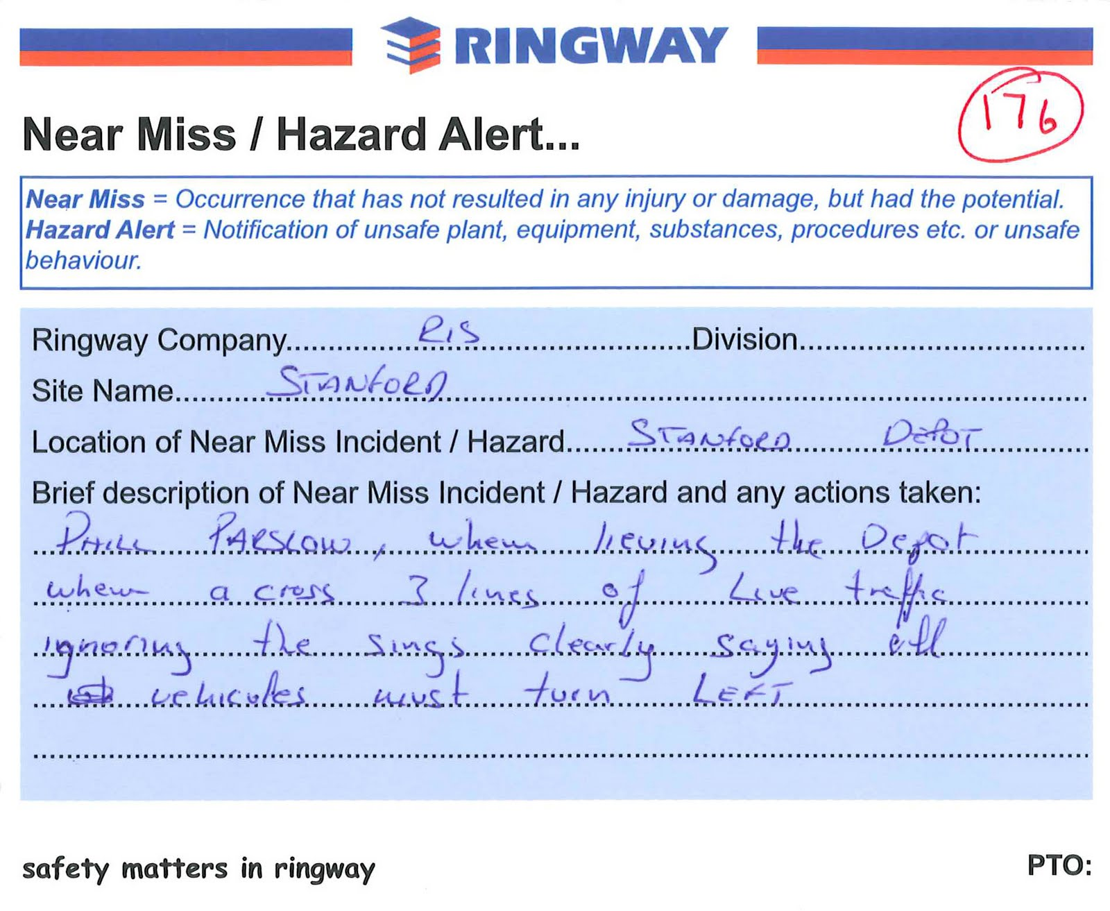 Near Miss Template example near miss report pictures home images – Injury Incident Report Form Template