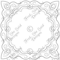 paper pricking templates - fred she said designs the store fall flowers digi