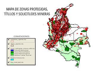 Mapa de zonas protegidas titulos y solicitudes mineras