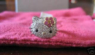 HELLO KITTY PAVE DIAMOND RING