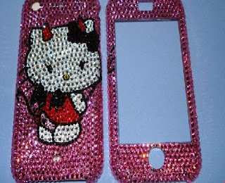 Swarovski iPhone Faceplates - LittleDevilish Hello Kitty