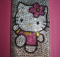 Old School Hello Kitty Swarovski Case Cover for Apple iPhone