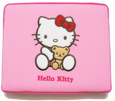 HELLO KITTY LAPTOP NOTEBOOK COVER SKIN CASE ZIPPER BAG