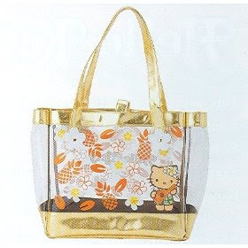 Sanrio Lei Hello Kitty Super Kawaii Vinyl Tote Bag 2008 Newest Collection