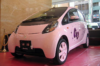Hello Kitty Car - Mitsubishi i Hello Kitty