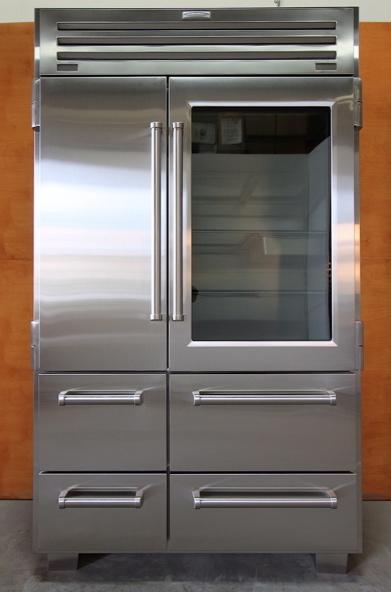 Glass door refrigerators fleur de list home decor - Glass door fridge for home ...