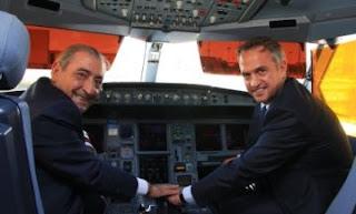 Globalia, Juan José Hidalgo, y el presidente de la Liga de Fútbol Profesional, (LFP), José Luis Astiazarán