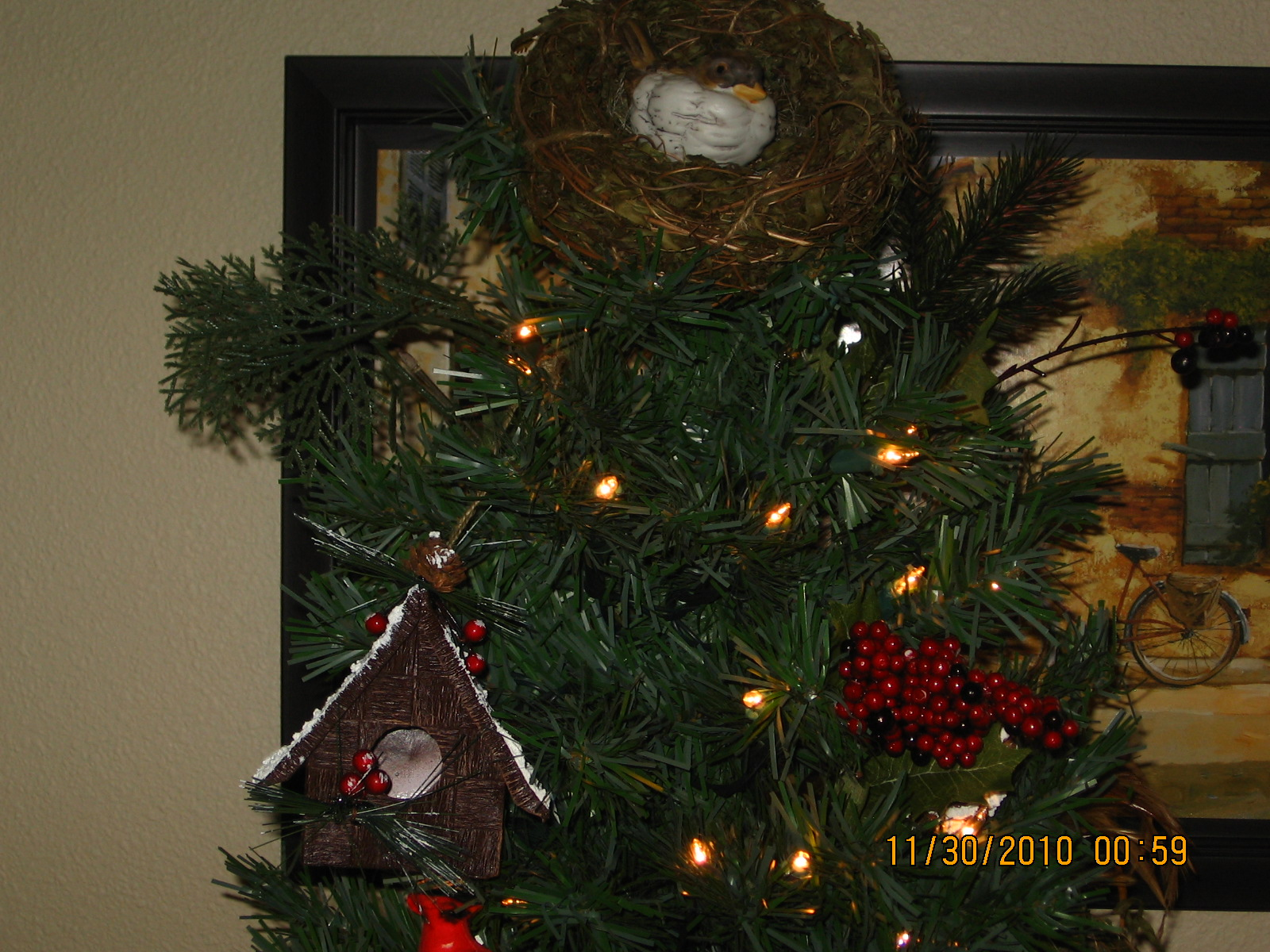 Counting My Blessings: Santa And My Bird Theme Tree