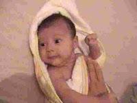 como secar o bebê