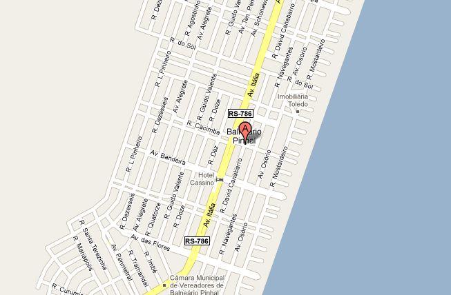 pinhal novo mapa Mapa da Cidade de Pinhal  RS | Pinhal OnLine pinhal novo mapa