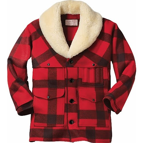 A Swan S Wing Dyed In Red Filson Wool Packer Coat