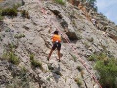 Escalando en Chulilla