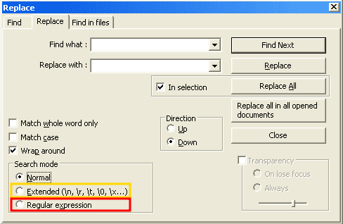 Mark's Speechblog: Notepad++: A guide to using regular expressions