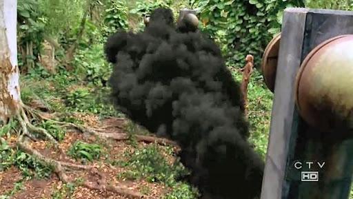 The Smoke Monster Hits Fence
