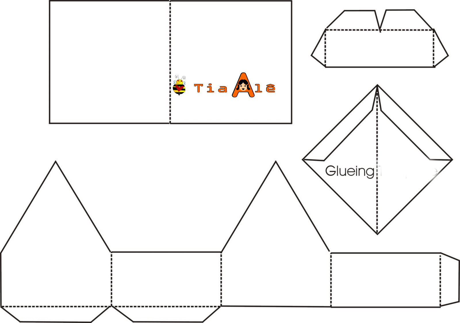 Gingerbread House Outline