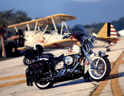 Princess Belle Stearman and Matching Harley