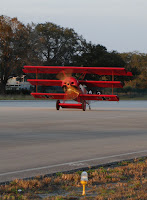 Fokker Triplane landing at Spruce Creek Airport