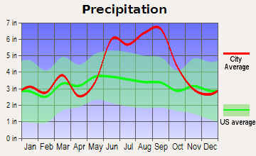 Spruce Creek Fly-in Average Precipitation
