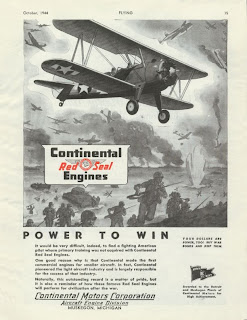 Princess Belle Stearman, Continental Engines Advertisement Army Air Corps
