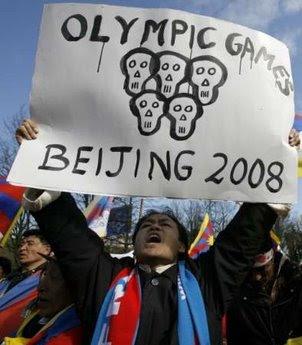 tibet china olympics