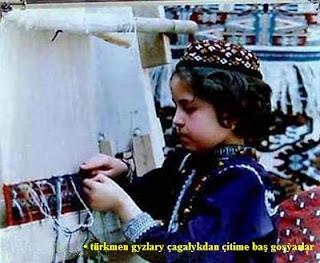 • Türkmen gyzlary çagalykdan çitime baş goşýarlar