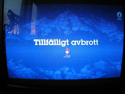 tillfälligt avbrott tv4