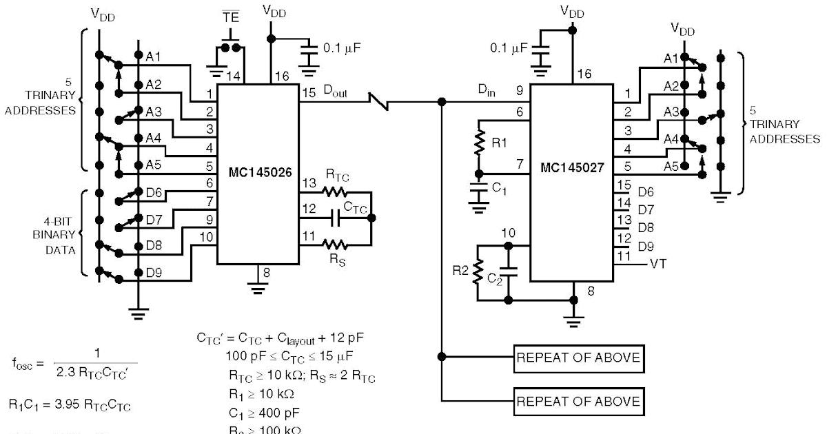 radio control schematics  radio control using mc